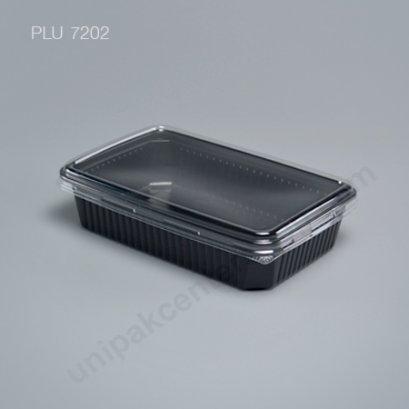 กล่องใส่อาหาร 1ช่อง 250g. PPดำ+ฝาPET ตรา โรดดี้แพค