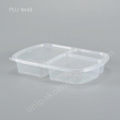 กล่องอาหาร 3 ช่อง PP ใส + ฝา PET