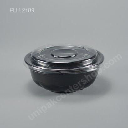 ชามบะหมี่ ชากุระ PP สีดำ 750 ml. + ฝา PET