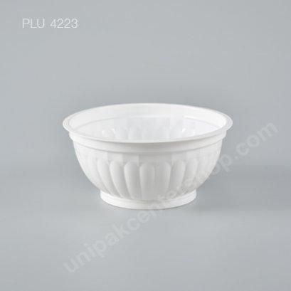 ชามลายฟักทอง PP สีขาว DIA.145 mm 500 ml
