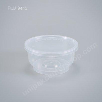 กล่องอาหารกลม PP ใส 350 ml + ฝา