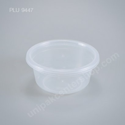 กล่องอาหารกลม PP ใส 680 ml + ฝา