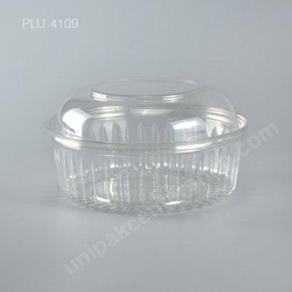 กล่องสลัด ใสกลมฝาโดม (D66/24) (Round Salad Box + Dome Lid)