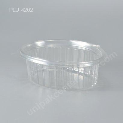 กล่องสลัดใสวงรี ขนาดกลาง PET (PK310-150)