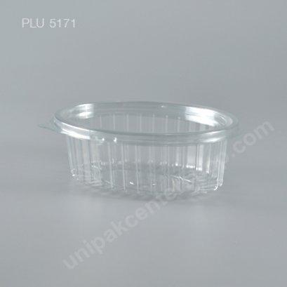 กล่องสลัด วงรี PET ใส ขนาดเล็ก+ฝา (YL-370) (Oval Salad Box)
