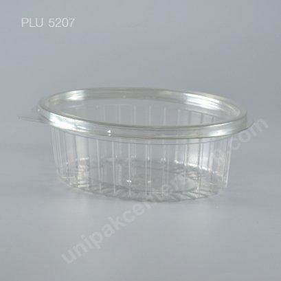 กล่องสลัด วงรี PET ใส ขนาดกลาง (Oval Salad Box) (YL-750)