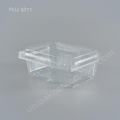 กล่องใส่ผลไม้PET(500gm)ฝาในตัวเจาะรู (EPP)