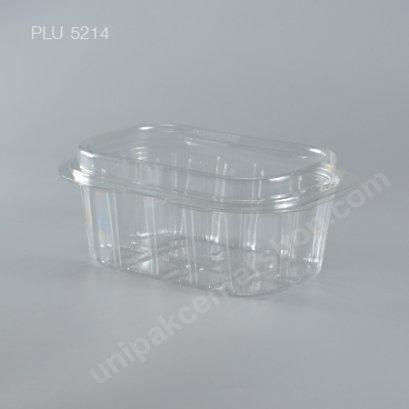 กล่องใส่ผลไม้ PET พร้อมฝาในตัว A104 (ไม่เจาะ) (Fruit Box without Perforation)