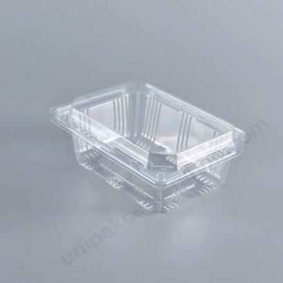 กล่องใสผลไม้ (250gm) PET ใส ฝาในตัวเจาะรู