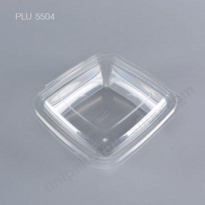 กล่องสลัดใสเหลี่ยม M-028 + ฝาในตัว (500 ml)