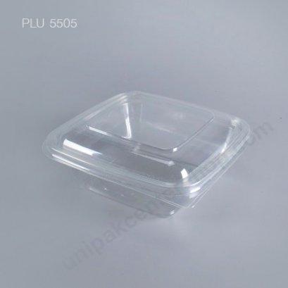 กล่องสลัดใสเหลี่ยม M-036 +ฝาในตัว (750 ml)