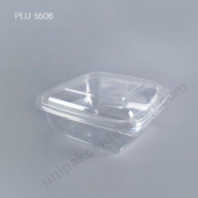 กล่องสลัดใสเหลี่ยม M-030 + ฝาในตัว (1000 ml)