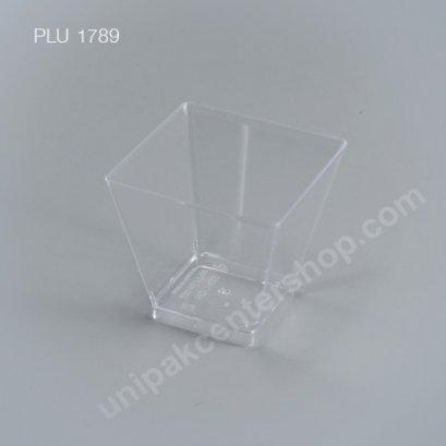 ถ้วยค็อกเทลเหลี่ยม PSใส (NO1425) ขนาด 220 ml.