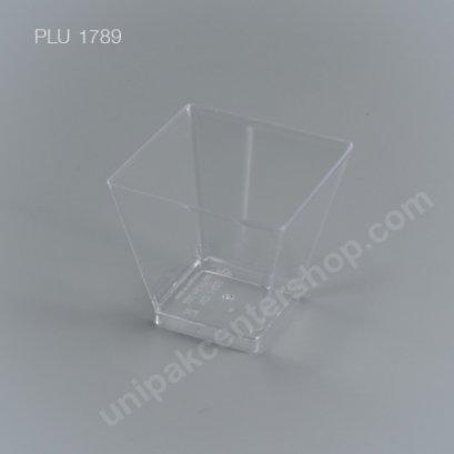 ถ้วยค็อกเทลเหลี่ยม PSใส (NO1425) ขนาด 220 ml