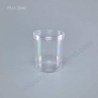 กระบอก แข็งใส 450 ml + ฝาใส (Cylinder Hard Plastic Case) NO.0754