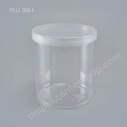 กล่องแข็งใส/กระบอก NO.0759 (1,650ml) + ฝาใส