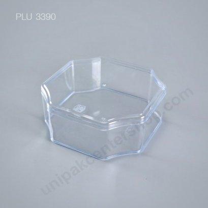 กล่องแข็งใส แปดเหลี่ยม + ฝา (Octagonal Hard Plastic Case) C-0812