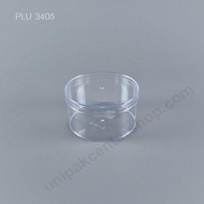 กล่องแข็งใสกลม + ฝา (Round Hard Plastic Case) C-1012