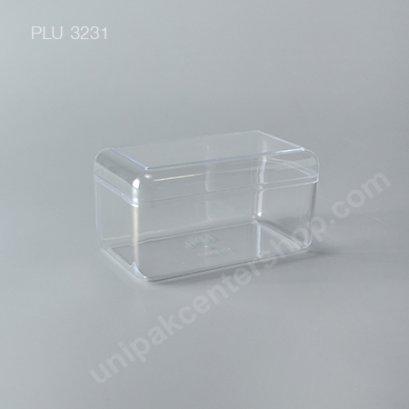 กล่องแข็งใสเหลี่ยม ทรง Ferrero Rocher + ฝา (Rectangular Hard Plastic Case) C-0303