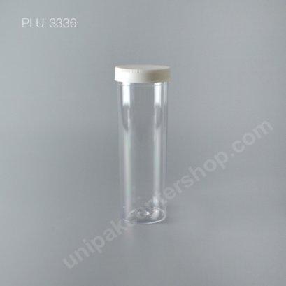 กระบอก แข็งใส 580 ml + ฝาขาว (Cylinder Hard Plastic Case) NO0748