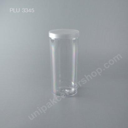 กระบอก แข็งใส 800 ml + ฝาขาว (Cylinder Hard Plastic Case) NO.0793