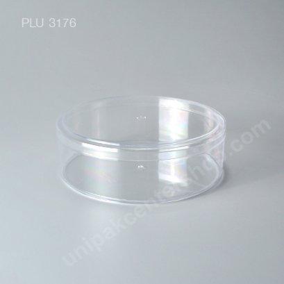 กล่องแข็งใสกลม+ ฝา (Round Hard Plastic Case) C-0598