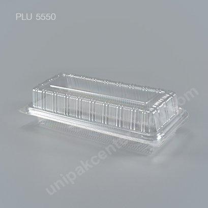 กล่องใส สี่เหลี่ยมผืนผ้า-L - ไซส์ใหญ่ 8.5x21x6.5cm (Large Rectangular OPS Food Box) (TP-15A-ตัวล็อค)