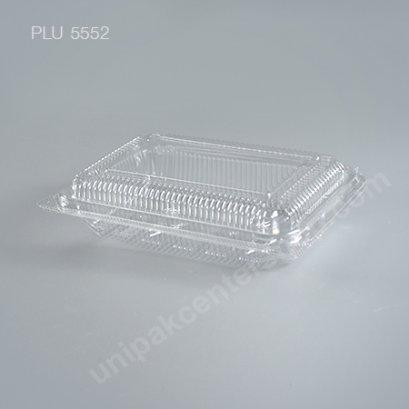 กล่องใส สี่เหลี่ยมผืนผ้า เตี้ย-L 9x14x3.8 (Large Flat Rectangular OPS Food Box) (TP-2HA-ตัวล็อค)