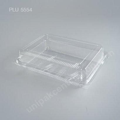 กล่องใส สี่เหลี่ยมผืนผ้า-L - ไซส์ใหญ่ 12x19x5.5cm (Large Rectangular OPS Food Box) (TP-6HA-ตัวล็อค)