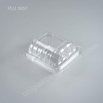 กล่องใส สี่เหลี่ยมผืนผ้า-S ซาลาเปา - ไซส์เล็ก 7.6x8.5x5.7cm (Small Rectangular OPS Food Box) (TP-37A-ตัวล็อค)