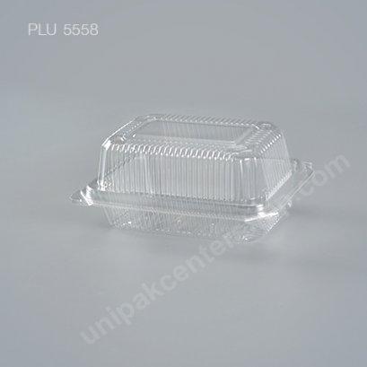 กล่องใส สี่เหลี่ยมผืนผ้า-M - ไซส์กลาง 7x12.2x6.2cm (Medium Rectangular OPS Food Box) (TP-103A-ตัวล็อค)