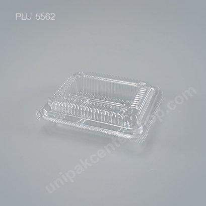 กล่องใส สี่เหลี่ยมผืนผ้า-M - ไซส์กลาง 7x9.5x3.5cm (Large Rectangular OPS Food Box) (TP-101A-ตัวล็อค)