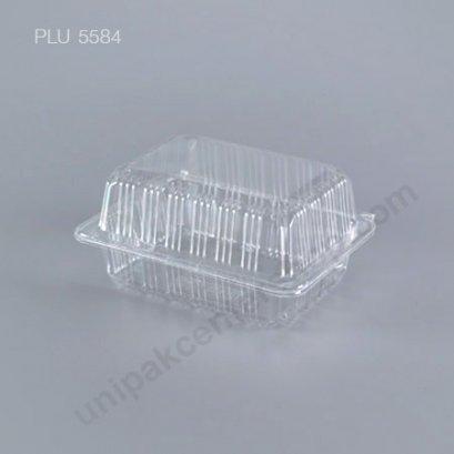 กล่องใส สี่เหลี่ยมผืนผ้า-M - ไซส์กลาง 10.3x13.6x6.5cm (Medium Rectangular OPS Food Box) OPS (TP-102)