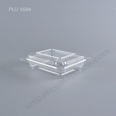 กล่องใส สี่เหลี่ยมผืนผ้า-M - ไซส์กลาง 9.2x11.9x3cm (Medium Rectangular OPS Food Box) (TP-101)A