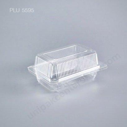 กล่องใส สี่เหลี่ยมผืนผ้า-M - ไซส์กลาง 9x13.5x5.8cm (Medium Rectangular OPS Food Box) TP-103)