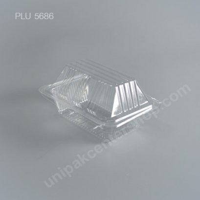 กล่องใส สี่เหลี่ยมผืนผ้า-M - ไซส์กลาง 9.3x12.8x6.1cm (Medium Rectangular OPS Food Box)(TL-32)