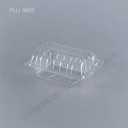 กล่องใส ทรงกระบอก-M - ไซส์กลาง 10x13.4x6cm (Medium Cylindrical OPS Food Box) (TL-31) ฝาโค้ง
