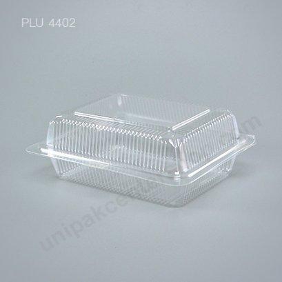 กล่องใส สี่เหลี่ยมผืนผ้า-L - ไซส์ใหญ่ 14x17x6.55cm (Large Rectangular OPS Food Box) (TP-104)