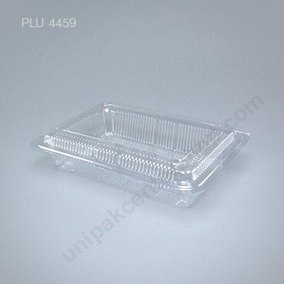 กล่องใส สี่เหลี่ยมผืนผ้า เตี้ย-L 13.8x20x4.6 (Large Flat Rectangular OPS Food Box) (TL-5H)