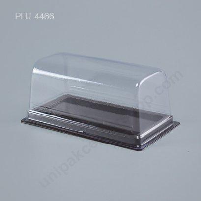 กล่อง แยมโรล สลัดโรล ทรงเหลี่ยม ฐานน้ำตาล+ฝาใส (Rectangular Cake Salad Roll Box) (E52)