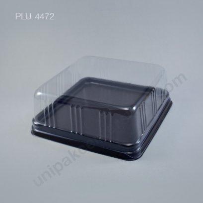กล่องเค้ก ทรงเหลี่ยม ฐานน้ำตาล+ฝาใส (Rectangular Cake Roll Box) E57