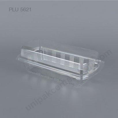 กล่องเบเกอรี่ใส PET H-74  ใส่แยมโรล (CLEAR CASE FOR ROLL CAKE)