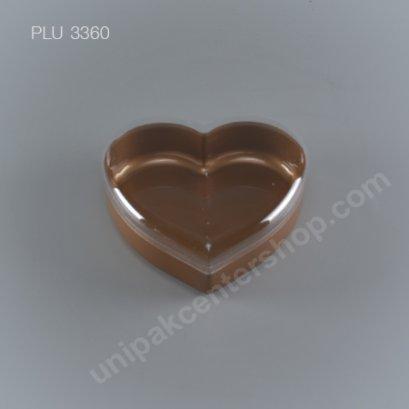 กล่องแข็งหัวใจ ใหญ่ NO.1383 (700ml) สีทอง