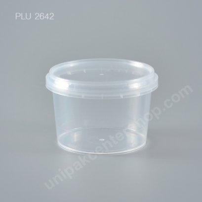 กล่อง Safety Seal กลมPP+ฝาใส (210ml)
