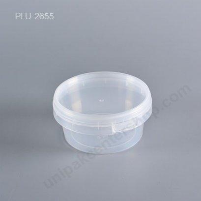 กล่อง Safety Seal ทรงแบนPP+ฝาใส (350ml) No.1622