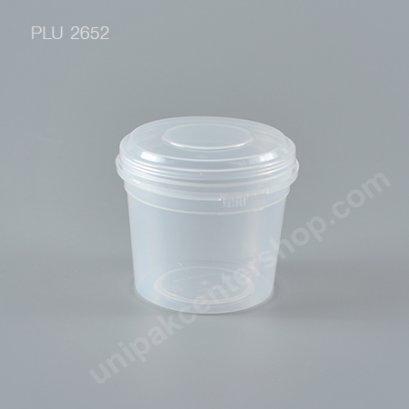 ถ้วยเต้าฮวย พุดดิ้ง PP+ฝาฉีก นูนใส (150ml) NO.1602