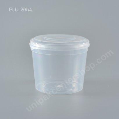 กล่อง Safety Seal กลมPP+ฝาใส (500ml) NO.1608