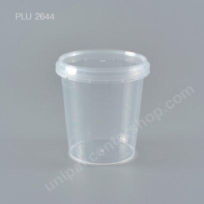 กล่อง Safety Seal ทรงสูงPP+ฝาใส (335ml)