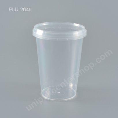 กล่อง Safety Seal ทรงสูงPP+ฝาใส (400ml)