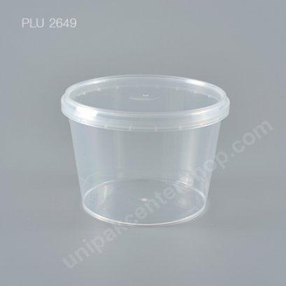 กล่อง Safety Seal กลมPP+ฝาใส (600ml)